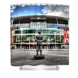 Arsenal Fc Emirates Stadium London Shower Curtain