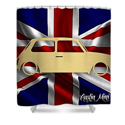 Austin Mini Cooper Shower Curtain by Marvin Blaine