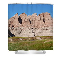 Badlands National Park South Dakota Shower Curtain by Louise Heusinkveld