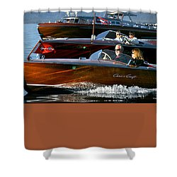 Classic Wooden Runabouts Shower Curtain