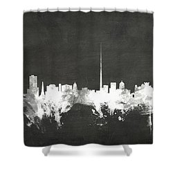Dublin Ireland Skyline Shower Curtain