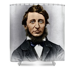 Shower Curtain featuring the photograph Henry David Thoreau by Granger
