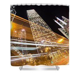 Hong Kong Night Rush Shower Curtain