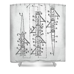 8 Man Rowing Shell Patent Shower Curtain by Taylan Apukovska