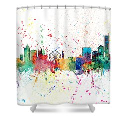 Manchester England Skyline Shower Curtain
