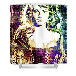 Michele Mercier Shower Curtain by Svelby Art