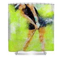 Michelle Wie Shower Curtain