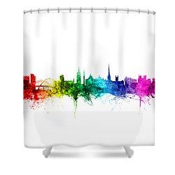 Newcastle England Skyline Shower Curtain