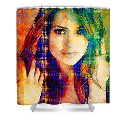Nina Dobrev Shower Curtain by Svelby Art
