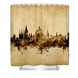Oxford England Skyline Shower Curtain