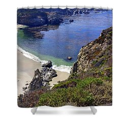 Point Lobos Beach Shower Curtain