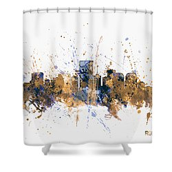 Shower Curtain featuring the digital art Richmond Virginia Skyline by Michael Tompsett