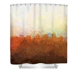 Shower Curtain featuring the digital art San Diego California Skyline by Marlene Watson