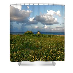 Shower Curtain featuring the photograph 8- Sunflowers In Paradise by Joseph Keane