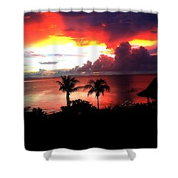 Sunset Shower Curtain by Julita Pietrzyk