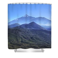 Tenerife - Mount Teide Shower Curtain by Joana Kruse