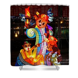 The 2016 Kaohsiung Lantern Festival Shower Curtain by Yali Shi