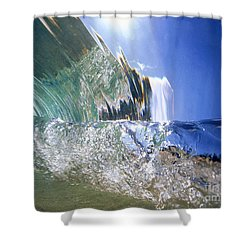 Underwater Wave Shower Curtain by Vince Cavataio - Printscapes