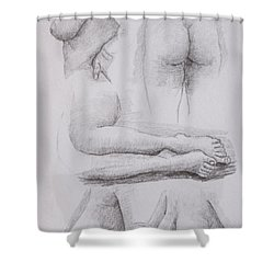 Nude Study Shower Curtain