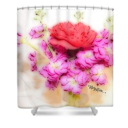 #8742 Soft Flowers Shower Curtain by Barbara Tristan