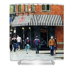 8th Ave. And W 22nd Street Chelsea Shower Curtain by Susan Savad