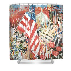 9-11 Attack Shower Curtain by Alexandra Maria Ethlyn Cheshire
