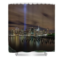 9/11 Tribute Lights 2016 Shower Curtain