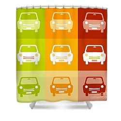 9 Cars Shower Curtain