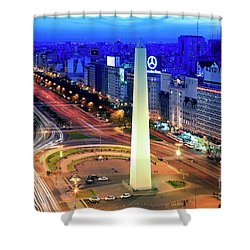 9 De Julio Avenue Shower Curtain by Bernardo Galmarini