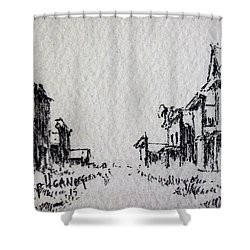 Ghost Town Shower Curtain by Kevin Heaney