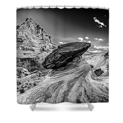 Hoodoos At Stud Horse Point In Arizona Shower Curtain by Alex Grichenko