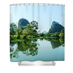 Karst Rural Scenery Shower Curtain