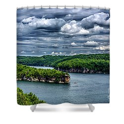 Long Point Summersville Lake Shower Curtain