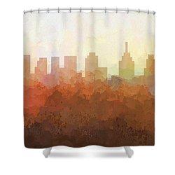 Shower Curtain featuring the digital art Philadelphia Pennsylvania Skyline by Marlene Watson