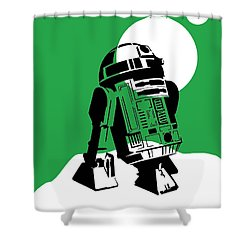 Star Wars R2-d2 Collection Shower Curtain by Marvin Blaine