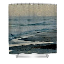 Stormy Morning At The Sea Shower Curtain by Werner Lehmann