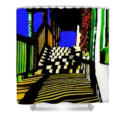 Streets Of Taos Shower Curtain