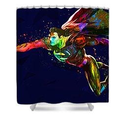 Superman Shower Curtain by Elena Kosvincheva