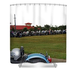 911 Ride Line Up Shower Curtain