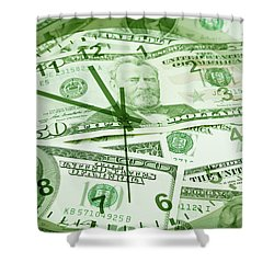 Shower Curtain featuring the photograph Time Is Money  by Les Cunliffe
