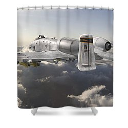 A-10 Thunderbolt II Shower Curtain by David Collins