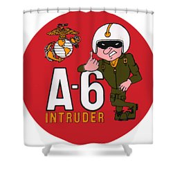 A-6 Intruder Shower Curtain