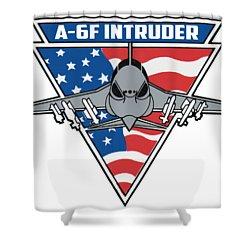 A-6f Intruder Shower Curtain