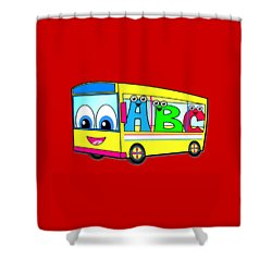 A B C Bus T-shirt Shower Curtain