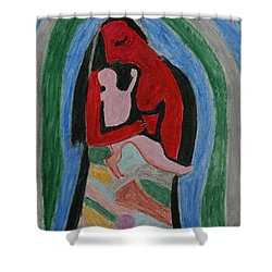 A Baby's View Of Mother Shower Curtain by Harris Gulko