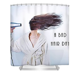 A Bad Hair Day Shower Curtain