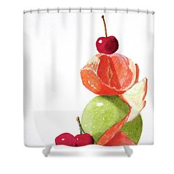A Balanced Meal Shower Curtain
