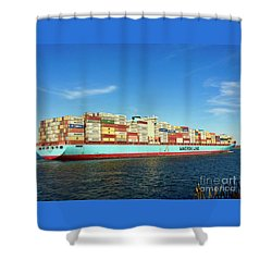 A Barge Can Be Beautiful Shower Curtain