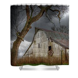 A Barn In The Storm 2 Shower Curtain