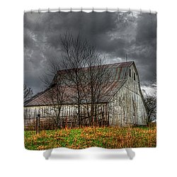 A Barn In The Storm 3 Shower Curtain
